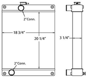 Hyundai Loader 450460 radiator drawing
