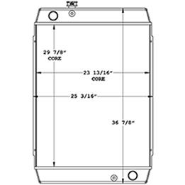 Hyundai Loader 450683 radiator drawing