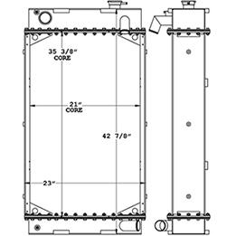 Hyundai Loader 451162 radiator drawing