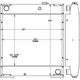 Ingersoll Rand 450038 radiator drawing