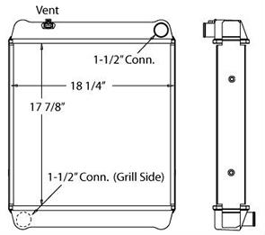 JCB 410026 radiator drawing