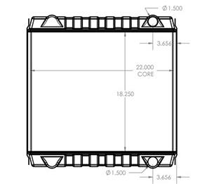 JCB 410164 radiator drawing