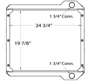 JCB 450046 radiator drawing