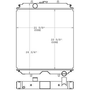 JLG 450115 radiator drawing