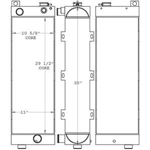 JLG 451120 radiator drawing