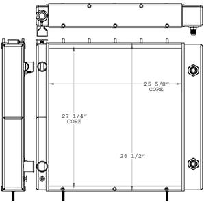 JLG 451158 radiator drawing