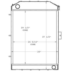 John Deere 450540 radiator drawing