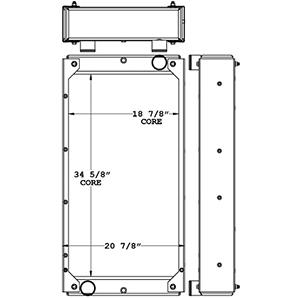 John Deere 450773 radiator drawing