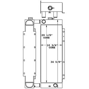 John Deere 450994 radiator drawing