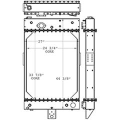 Kalmar 450970 radiator drawing