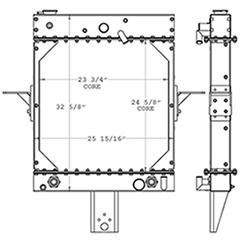 Kalmar 451082 radiator drawing