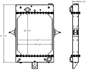 Kalmar 451389 radiator drawing
