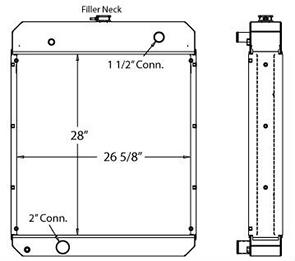 Kohler 450171 radiator drawing