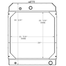 Kohler 450551 radiator drawing