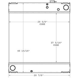 Kohler 450630 radiator drawing