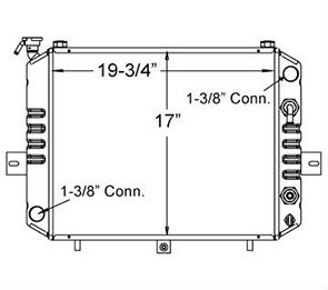 Komatsu 410142 radiator drawing