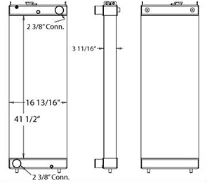 Komatsu 450185 radiator drawing