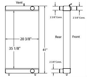 Komatsu 450278 radiator drawing