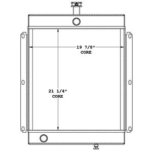 Lincoln Welder 450584 radiator drawing