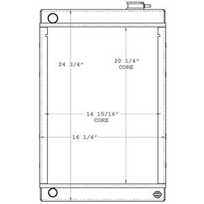 Lincoln Welder 450615 radiator drawing