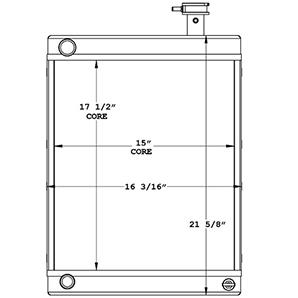 Lincoln Welder 450865 radiator drawing