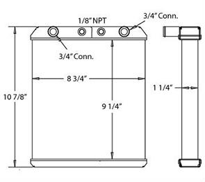 Linde 450365 radiator drawing