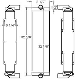 Linde 451249 radiator drawing