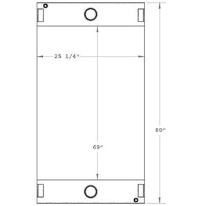 Manitowoc 450250 radiator drawing