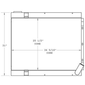 Manitowoc 450435 radiator drawing