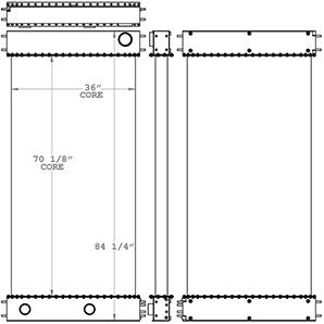 Manitowoc 451178 radiator drawing