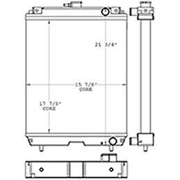 Massey Ferguson 451023 radiator drawing