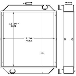 New Holland 450943 radiator drawing