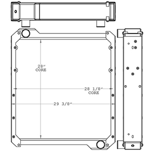 New Holland 451075 radiator drawing