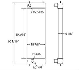 Sullair 450242 radiator drawing