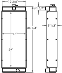Sullair 451276 radiator drawing