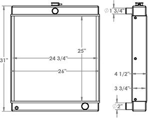Sullair 451382 radiator drawing