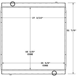 Terex 450522 radiator drawing