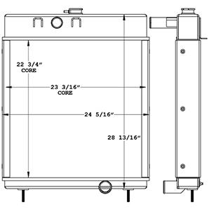 Terex 450897 radiator drawing