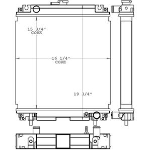 Terex 451189 radiator drawing