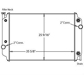 Winnebago 310085 radiator drawing
