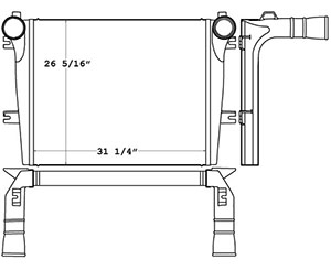 Advanced 280304 charge air cooler drawing
