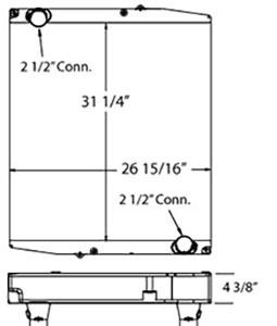 Eldorado 310108 radiator drawing