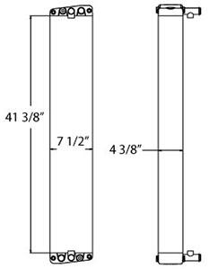 Eldorado 310113 radiator drawing