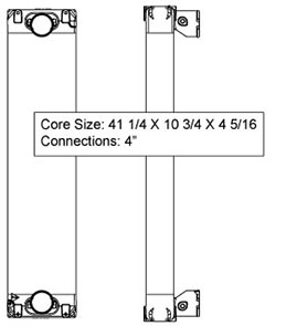 EMP TRA12065 charge air cooler drawing