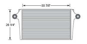 GMC GMC18501 charge air cooler drawing