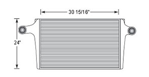 GMC GMC15803 charge air cooler drawing
