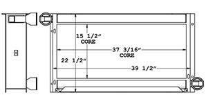 John Deere 280026 charge air cooler drawing