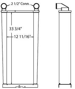 John Deere 280183 charge air cooler drawing