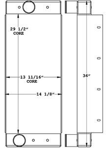 John Deere 280335 charge air cooler drawing