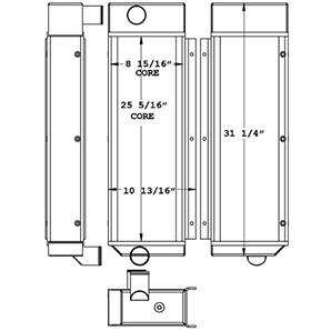 Bandit 280190 charge air cooler drawing